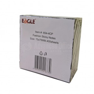Post It EAGLE Fashion Sticky Notes 75 x 75mm 400 Feuilles