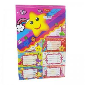 Paquet de 10 Feuilles étiquette Ecolier GOLDEN 25016