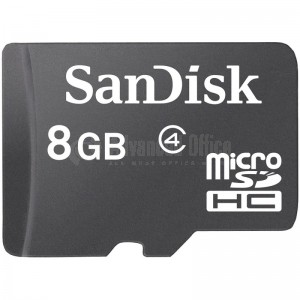 Carte mémoire SANDISK MicroSDHC 8Go