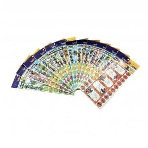 Paquet de 10 Etiquettes Autocollants écolier VERSAL VR111007 Multi-motifs, avec mini-autocollants de décoration