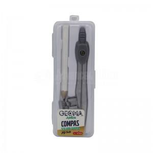 Compas à Bague écolier VERSAL Geoma Junior VR107005 en métal, avec crayon
