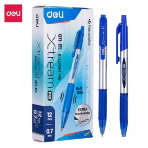 Stylo Roller DELI Q204 30 Touch 0.7 bleu