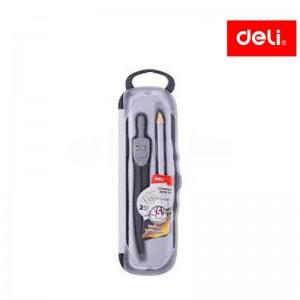 Compas à bague métallique DELI G20804, avec crayon