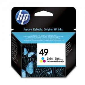 Cartouche HP 49 Couleur pour Deskjet 350/600/640/660/670/690, Officejet 580