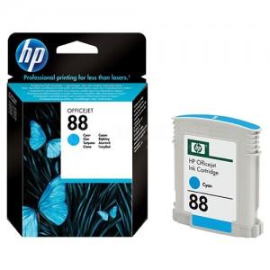 Cartouche HP 88 Cyan pour Officejet K550/K5400/K8600/L7590/L7680/L7780/L7480