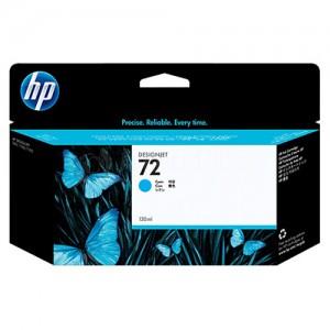 Cartouche HP 72 Cyan 130ml pour Designjet T1100/T1200/T1300/T610/T620/T770/T790/T795