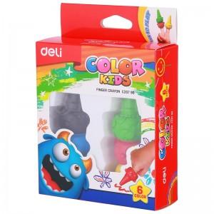 Boite de 6 crayons couleurs Finger DELI C207 90 Color Kids