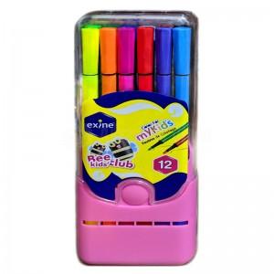 Boite de 12 feutres de coloriage scolaire EXINE Bee Kid's Club IS01 305 Color For MyKid's