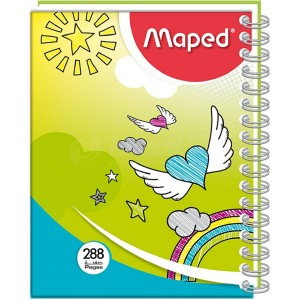 Note Book à Spirale MAPED 17*22cm 288 Pages