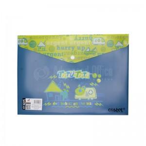 Pochette enveloppe à bouton CRISTAL en plastique avec motif