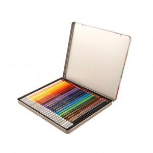 Boite Métallique de 24 crayons couleur TECHNO artColor Outils d'artiste