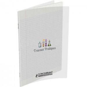 Cahier TP CONQUERANT A4 Seyès + Uni, Couverture en PP Transparent 96 pages