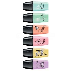 Marqueur fluorescent pour Enfants STABILO Boss Pastel Love - Be You Tiful (Multi Couleurs)