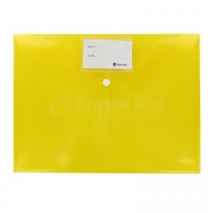 Pochette enveloppe à bouton ATLAS transparent Jaune