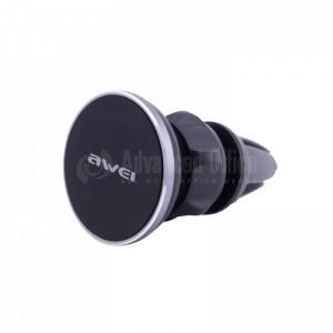 Support Auto Magnétique AWEI X2 à pince pour Smartphone et GPS