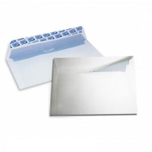 Pochette de 10 enveloppes F10 blanche auto adhésives blanc 114 x 162 mm