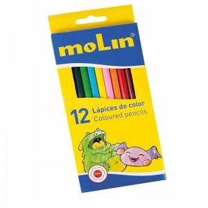 Boite de 12 crayons de couleur MOLIN GM