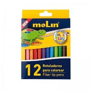 Feutre MOLIN Multicouleur, boite de 12