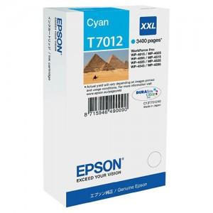 Cartouche EPSON T7012 XXL Cyan pour WP-4015/4525/4095/4595/4515