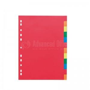 Intercalaire cartonné 12 couleurs A3 CV