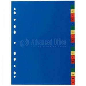 Intercalaire cartonné 1-20 couleurs CV