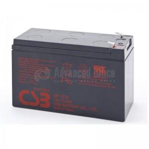 Batterie étanche Plomb pour onduleur CSB GP1272 cosses F1 standard Faston 4.75mm, 12V, 7.2A