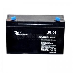 Batterie pour onduleur VISION CP6120 6V, 12A, 20h
