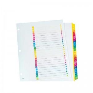 Intercalaire plastique ATLAS A-Z couleurs