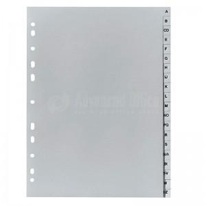 Intercalaire plastique ATLAS A-Z gris