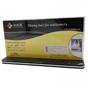 Présentoir carte SJM T-632 Rotating display stand 200 x 100mm Horizontal