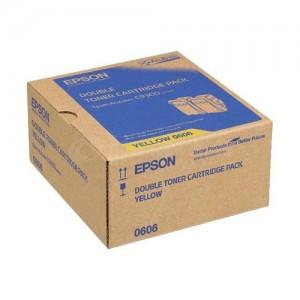 Toner EPSON Yellow pour Aculaser AL-C9300, Pack de 2