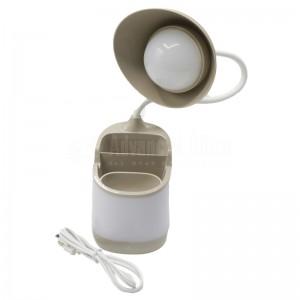 Lampe de bureau enfant Porte stylos COMIDA Pen Holder LED Table Lamp CMD8829-Y, sans fil, Flexible 360°, Touch 3 Niveau, LED, Batterie rechargeable via MicroUSB, Multi couleurs