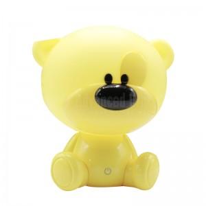 Lampe bureau enfant MEIDI BiBi Bear Table lamp MD88002, Bouton, Alimentation via USB DC 5V avec chargeur, Forme Ours anime design Jaune