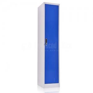 Armoire Vestiaire métallique 1 compartiments , 0.38 x 0.45 x 1.85 m Bleu