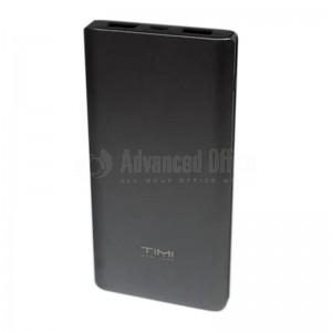 Power Bank TIMI Metal Shell T004, 10 000 Mah, 2 USB, Micro USB, Noir