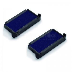 Jeu de 2 cassettes d'encrage pour cachet TRODAT 6/4910 bleues