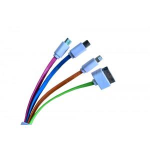 Câble USB 4 en 1 pour IPAD, IPHONE, SAM, B.BERRY