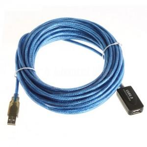 Câble d'extension USB 2.0 Mâle/Femelle 10m avec Booster