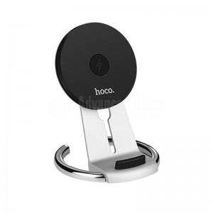 Support chargeur sans fil HOCO CW5 QI de bureau 5V-9V/1.5A pour téléphone mobile Silver