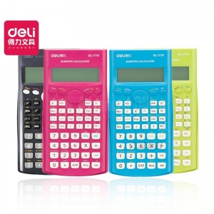 Calculatrice scientifique DELI 1710A Kinds(10 chiffres + 2 exposants) 240 Fonctions