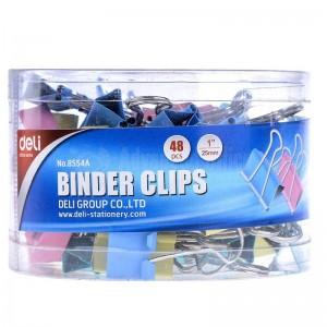 Binder clips 25 mm DELI boite de 48 pcs multi couleur