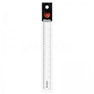 Règle de 30 cm/12 pouce VERTEX VS-0192 Simple cristal transparent