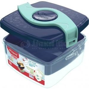 Boîte à Déjeuner écolier MAPED Picnik en plastique 170 x 153 x 80mm, 2 Compartiments superposé (2 niveaux) 1.4 Litre avec hélice amovible, Bleu
