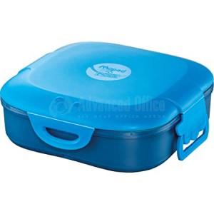Boîte à Déjeuner écolier MAPED Picnik en plastique 168 x 168 x 56mm, Compartiment simple 0.74 Litres à Fermeture clips, Bleu