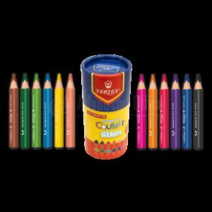 Boite de 12 crayons de couleur Géants VERTEX Creat Art VS-0408