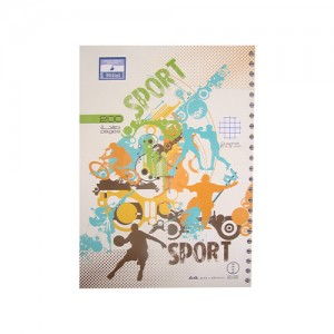 Note book EL HILLAL Spirale 200 pages 5*5 A4 GF
