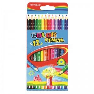 Boite de 12 crayons de couleur KEYROAD triangulaire GM
