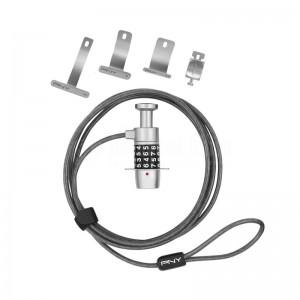 Cable de sécurité PNY P-TSUL1-RB pour laptop à code