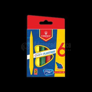 Boite de 06 crayons de couleur VERTEX Plastique PM