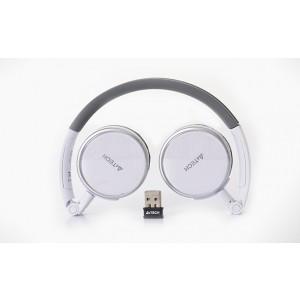Casque Microphone sans fil A4TECH rechargeable Blanc